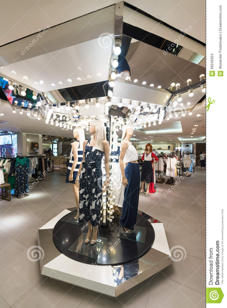e40ca09554 BANGKOK - MARCH 17, 2016 : Unidentified people choose goods at a ladies  clothing store in the Siam Center. It was built in 1973 and was one of  Bangkoks ...