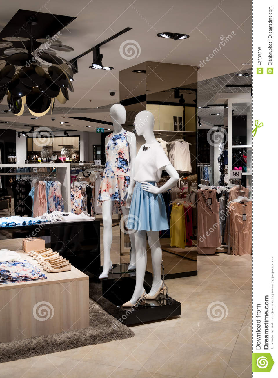 Collection clothing store