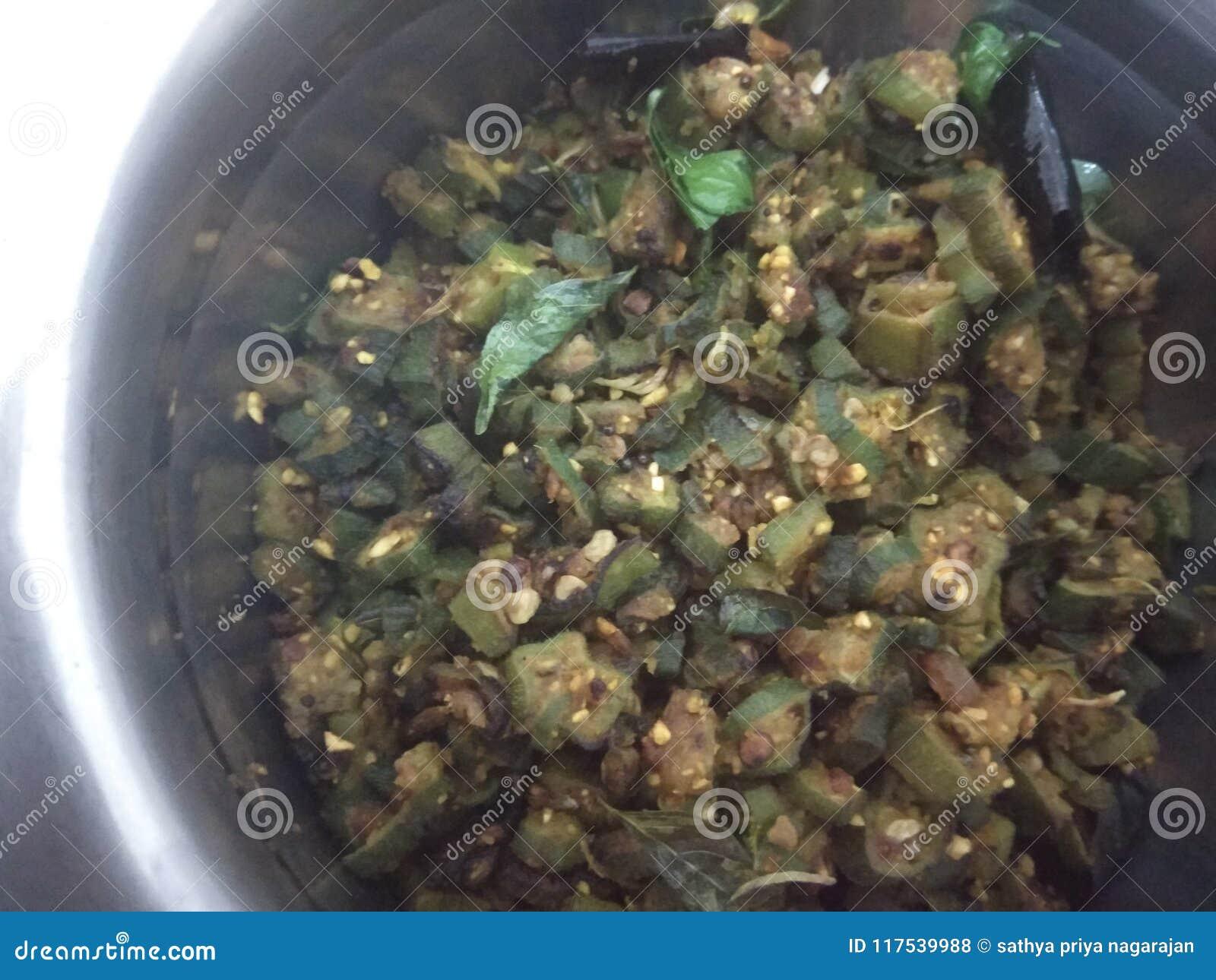 Ladies finger fry or okra