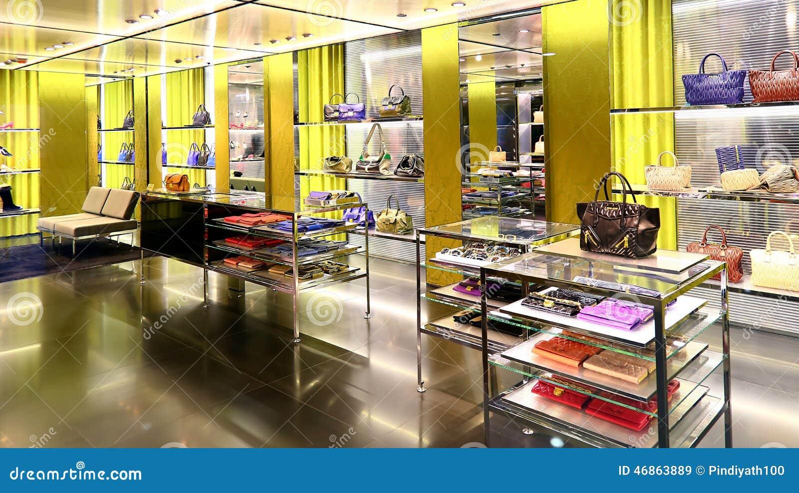 Ladies handbags retail shop