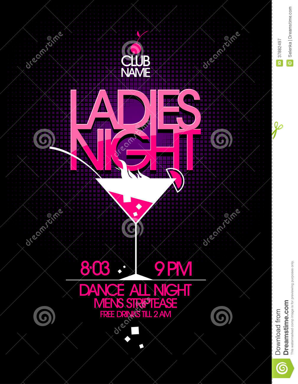 ladies night party design royalty free stock photography