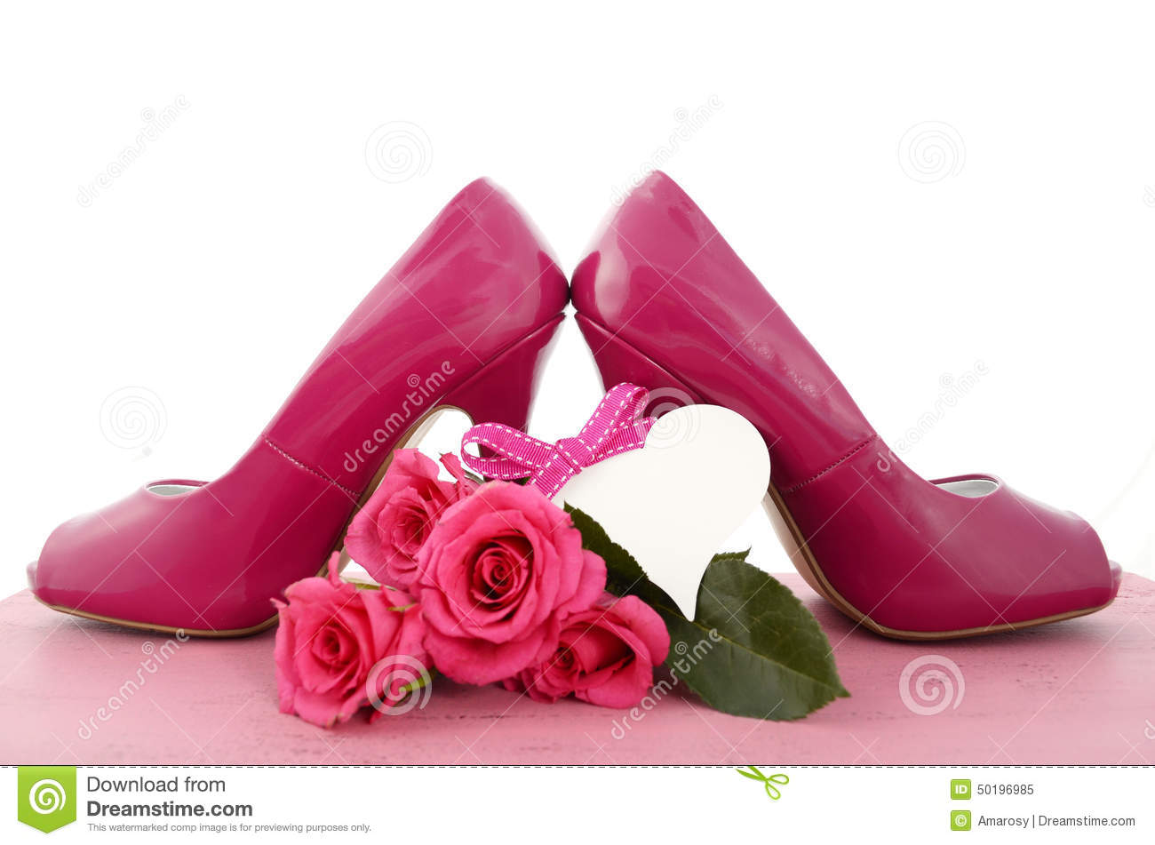 Ladies Pink High Heel Shoes