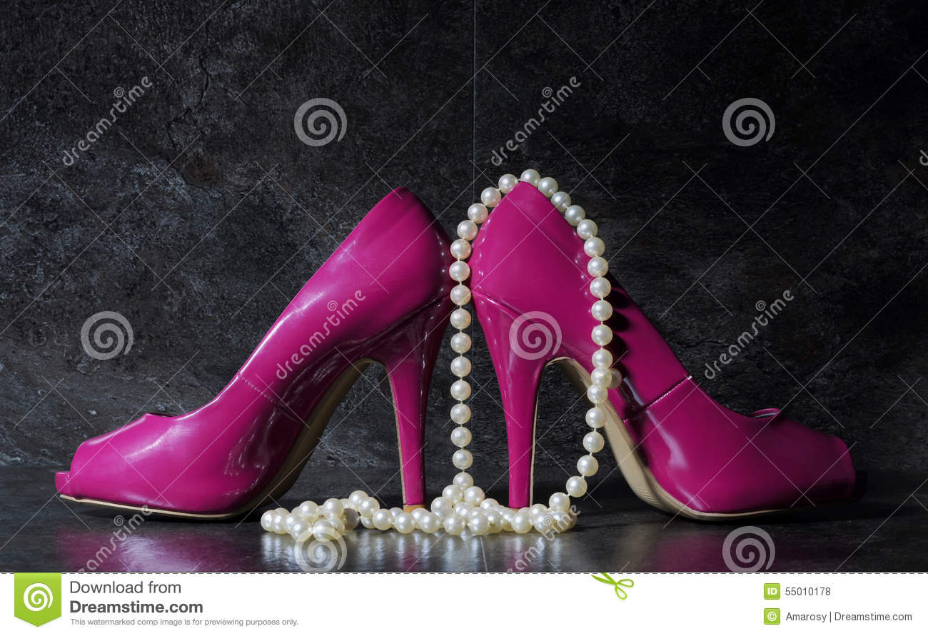 Ladies Pink High Heels