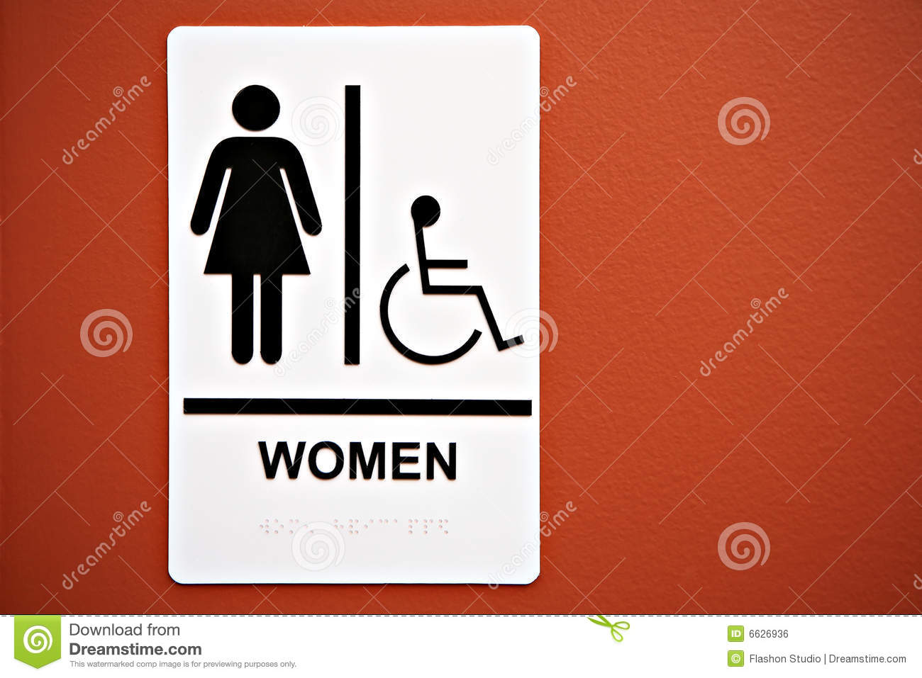 Ladies Room Sign On The Wall Stock Photo Image Of Room