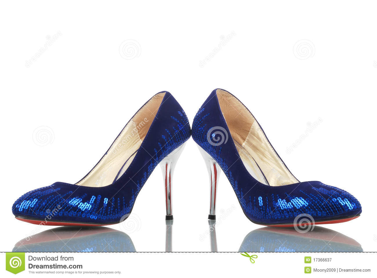 a26c0b12d25 This is a beautiful high heel blue ladies shoes isolated on a white  background.