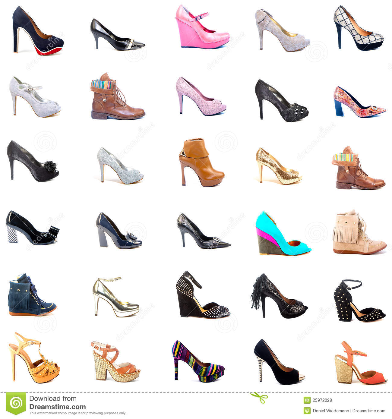 Ladies shoes collage stock photo image of orange object 25972028 - Zapatos collage ...