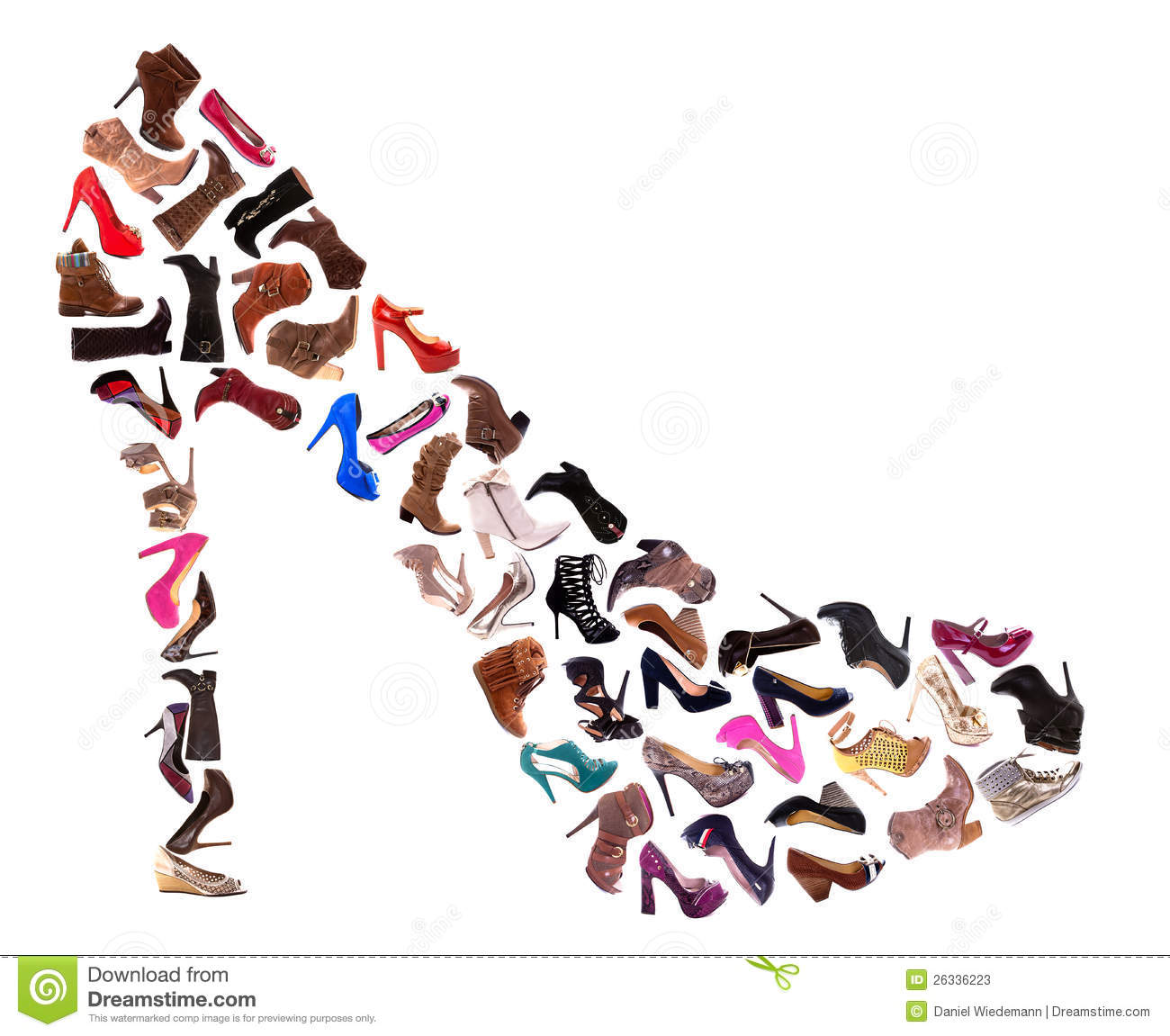ladies shoes collage stock image image of white side