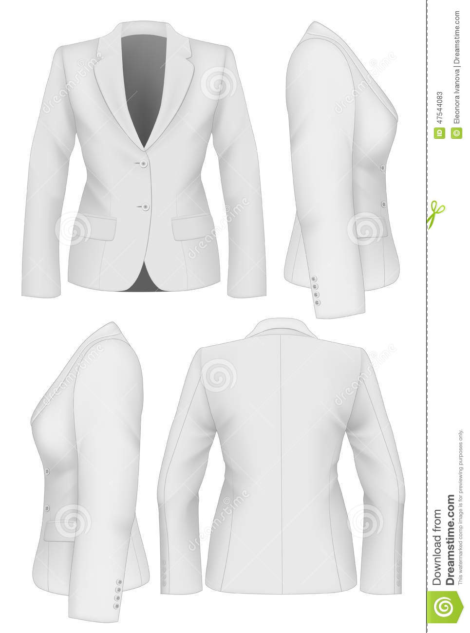 Ladies Suit Jacket Stock Vector Illustration Of Front 47544083