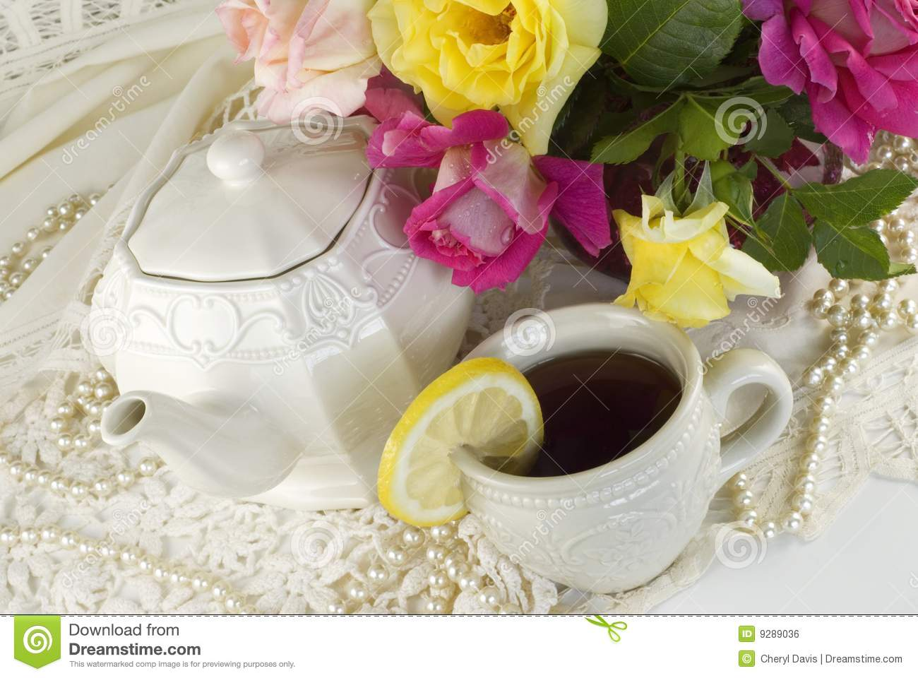 Ladies Tea Party Royalty Free Stock Image - Image: 9289036