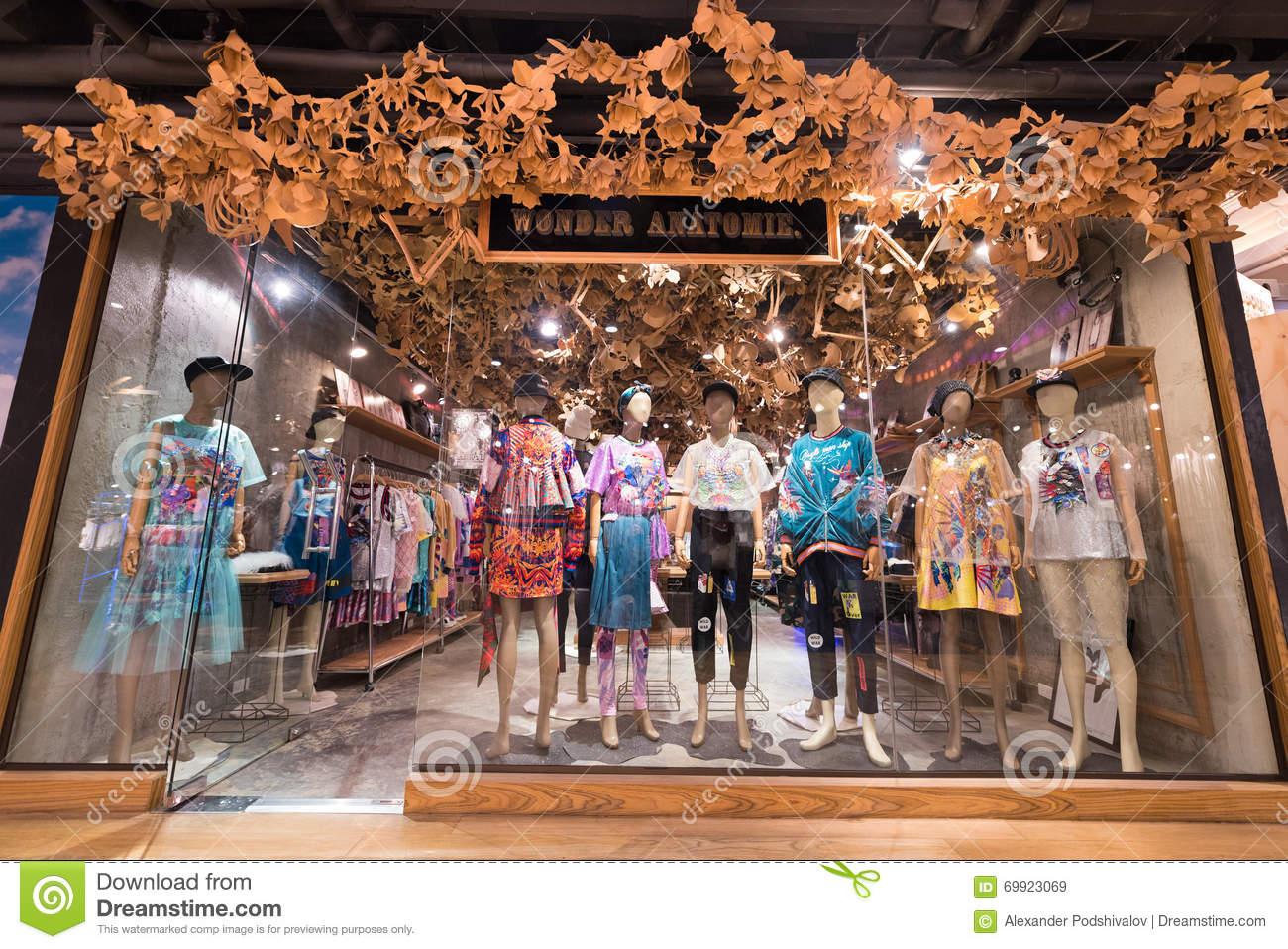 354f47da2f BANGKOK - MARCH 17, 2016 : A view at the Wonder Anatomie store in the Siam  Center. It was built in 1973 and was one of Bangkoks first shopping malls.