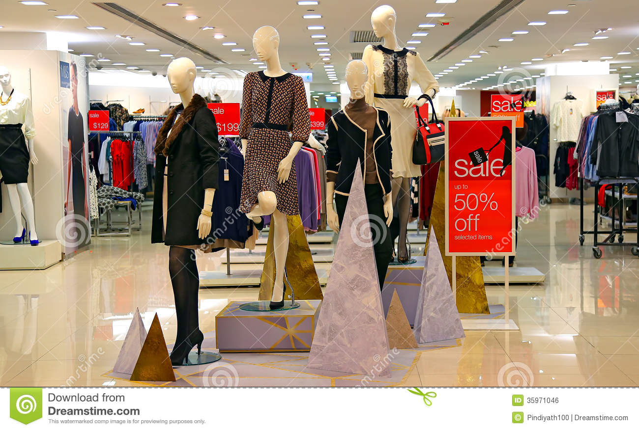 Women's Clothing Store Royalty Free Stock Photos - Image: 22858928