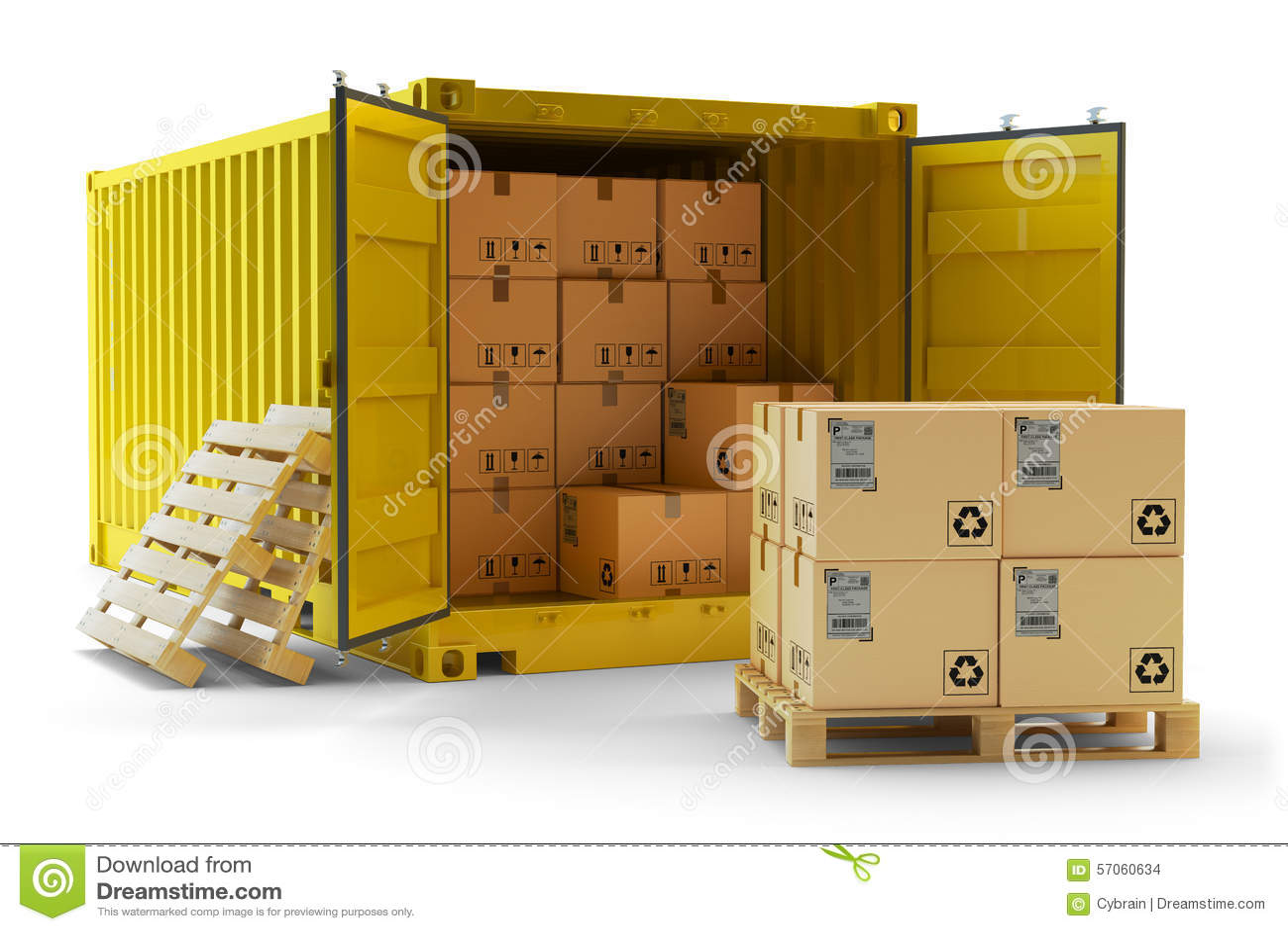 Ladings behandelende verrichting, het concept van het vrachtvervoer
