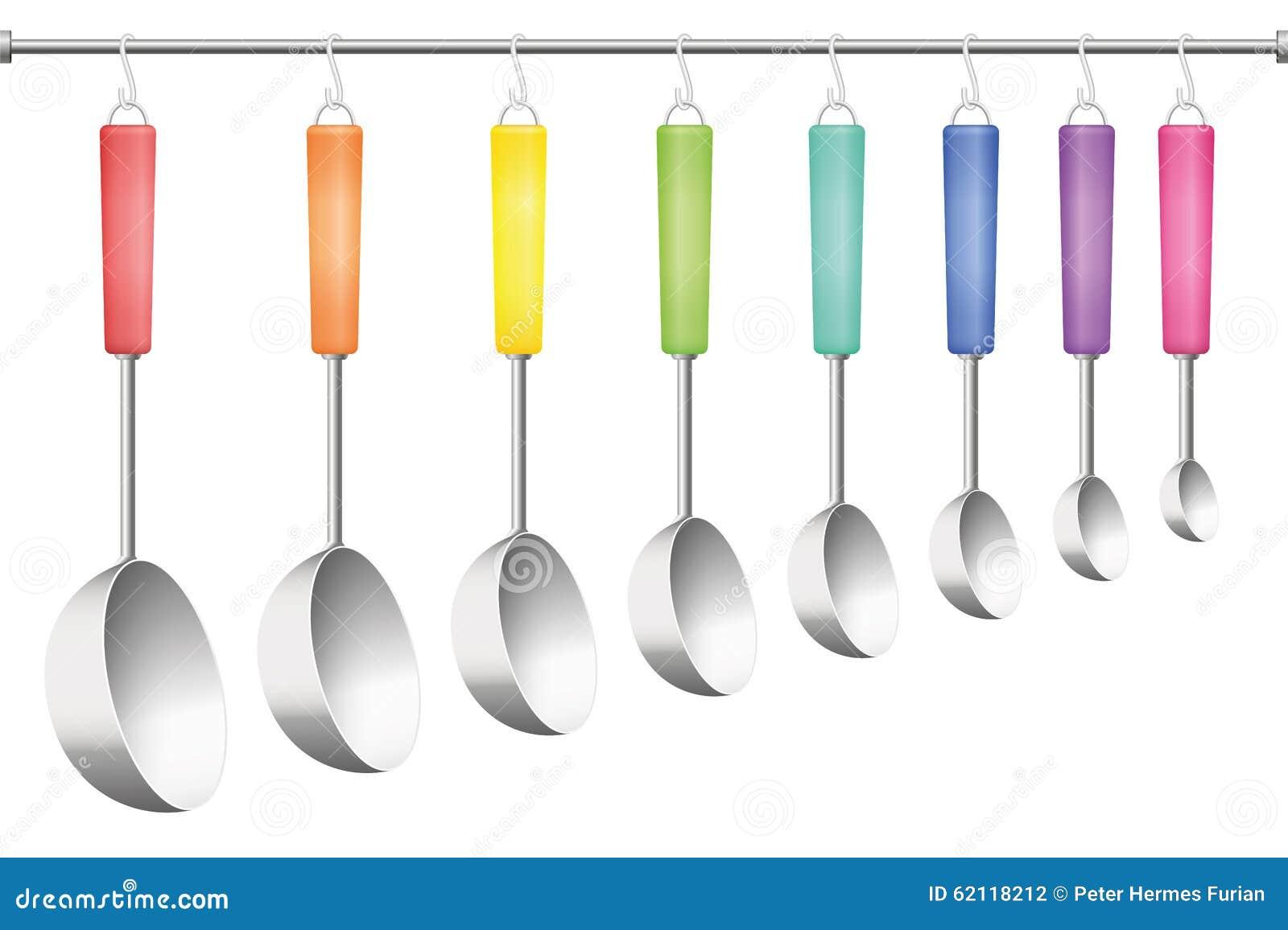 Colorful Kitchen Utensils Set