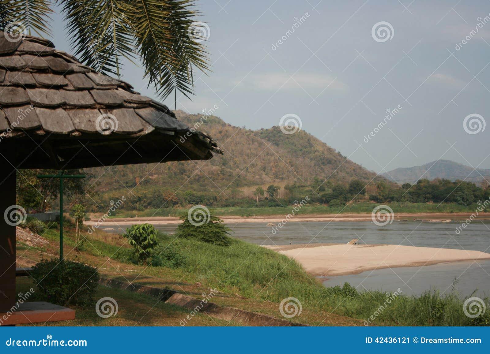 Lado del río de Khong