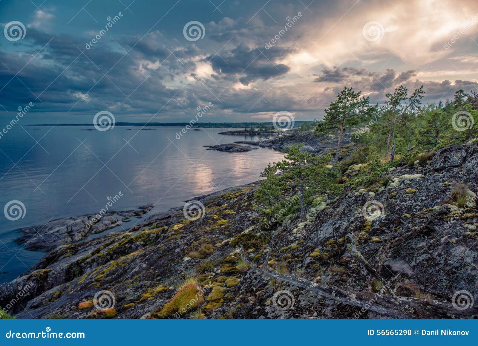 Download Ladoga λίμνη στοκ εικόνες. εικόνα από φως, παλαιός, τοπίο - 56565290