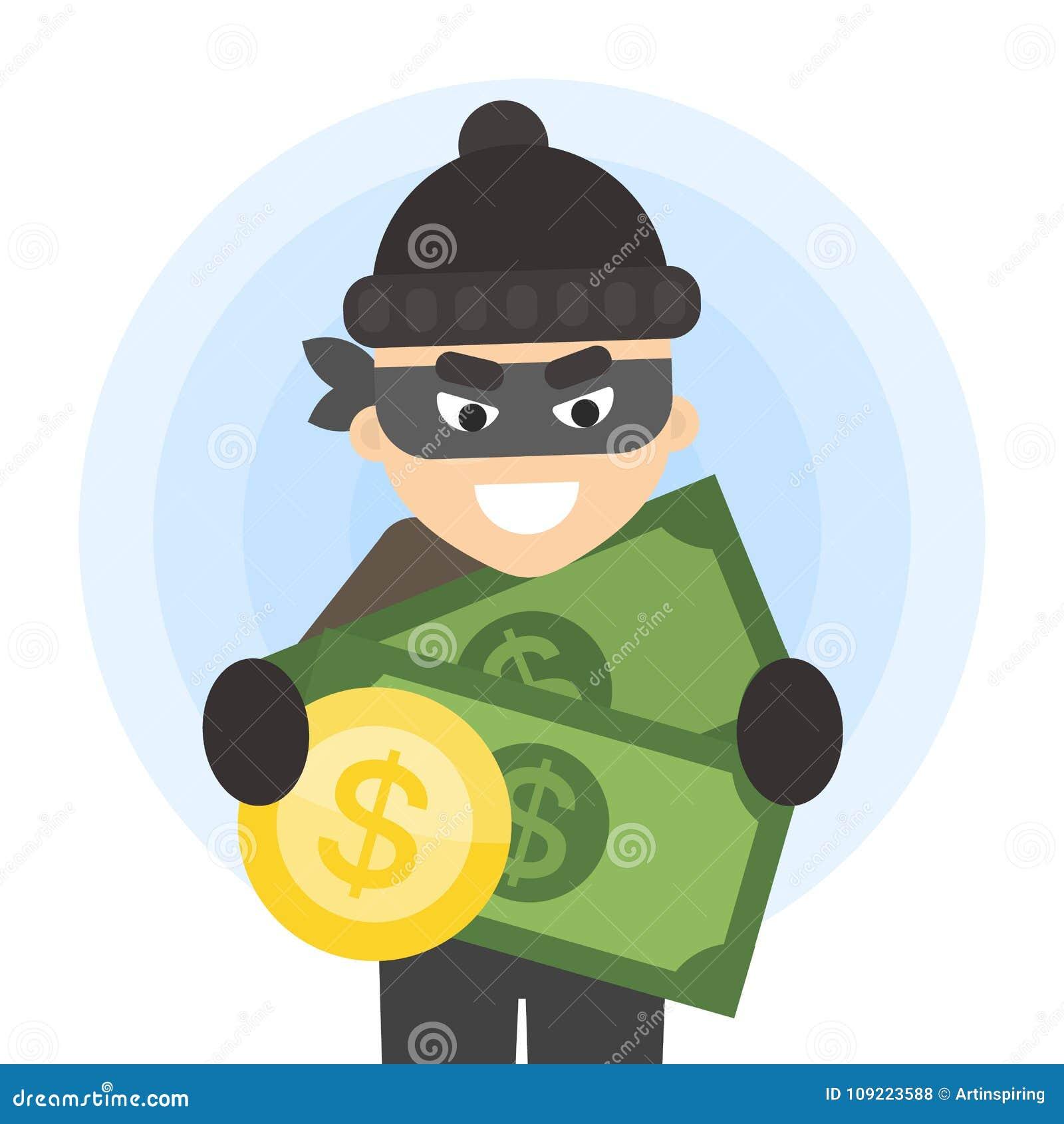 Ladrão com dinheiro