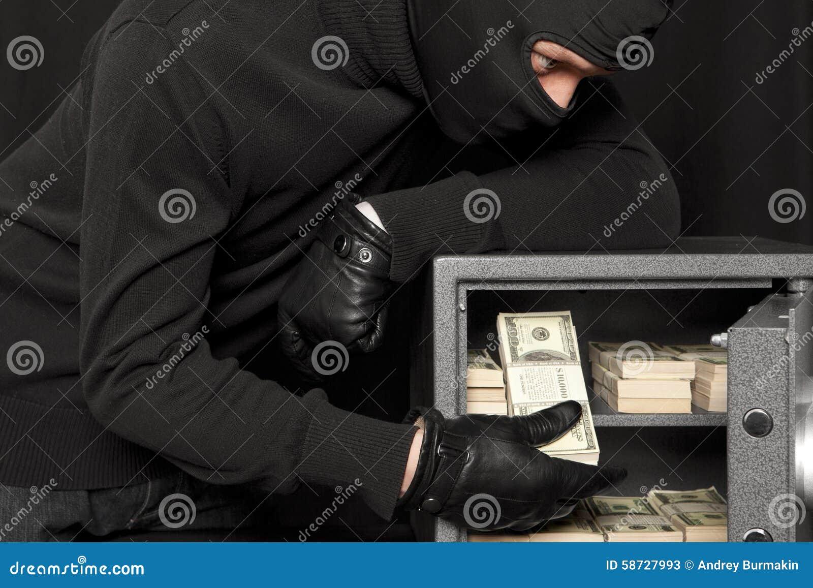 Ladrón del ladrón y caja fuerte del hogar
