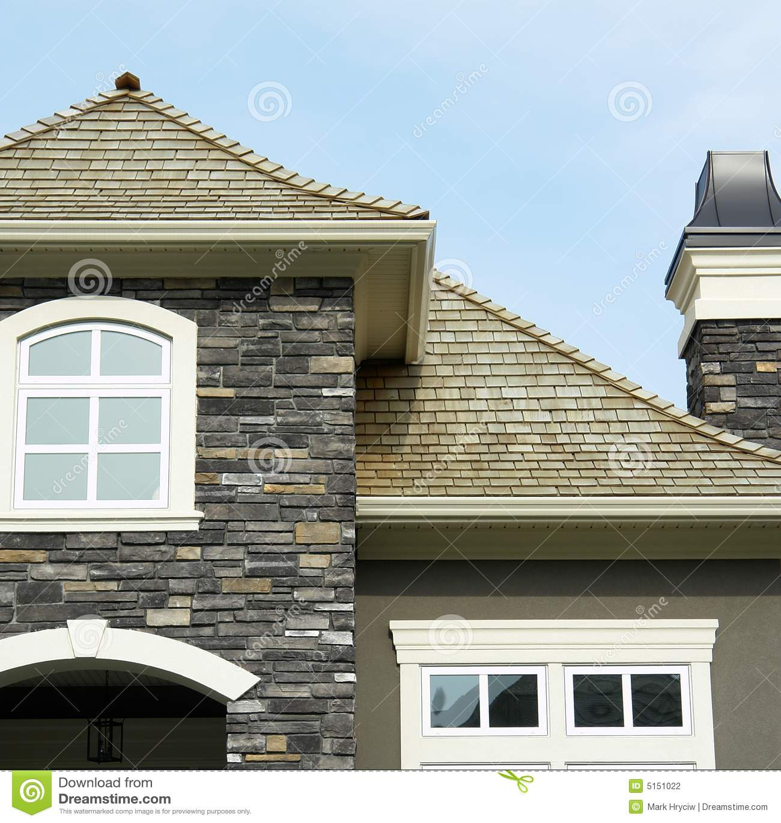Ladrillo casero del exterior de la casa