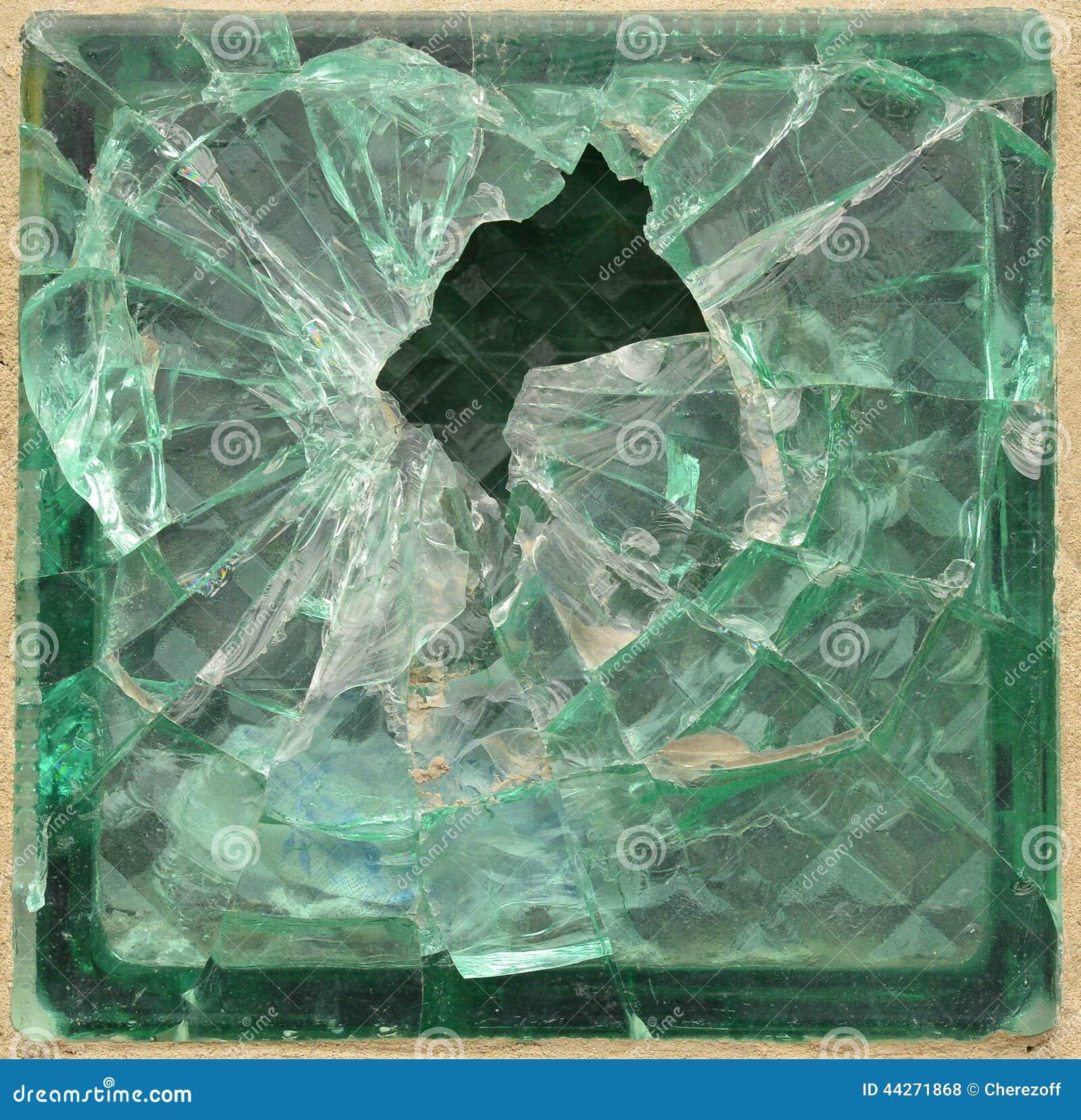 Ladrillo de cristal roto foto de archivo imagen 44271868 - Ladrillo de cristal ...