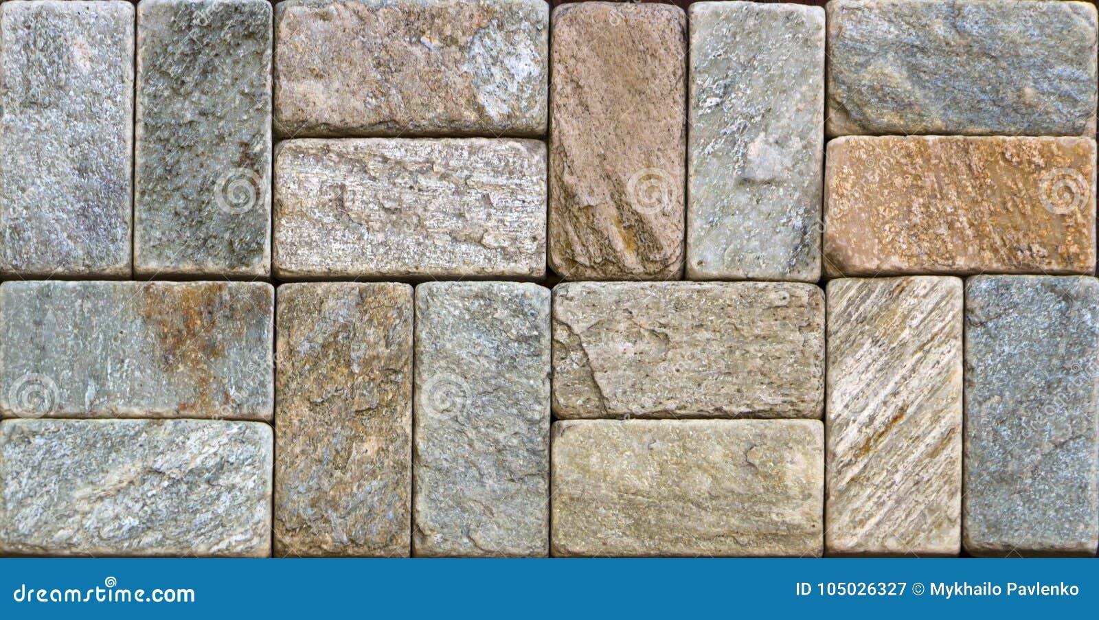Ladrillo decorativo de la textura de mármol, tejas de la pared hechas de piedra natural Materiales de construcción