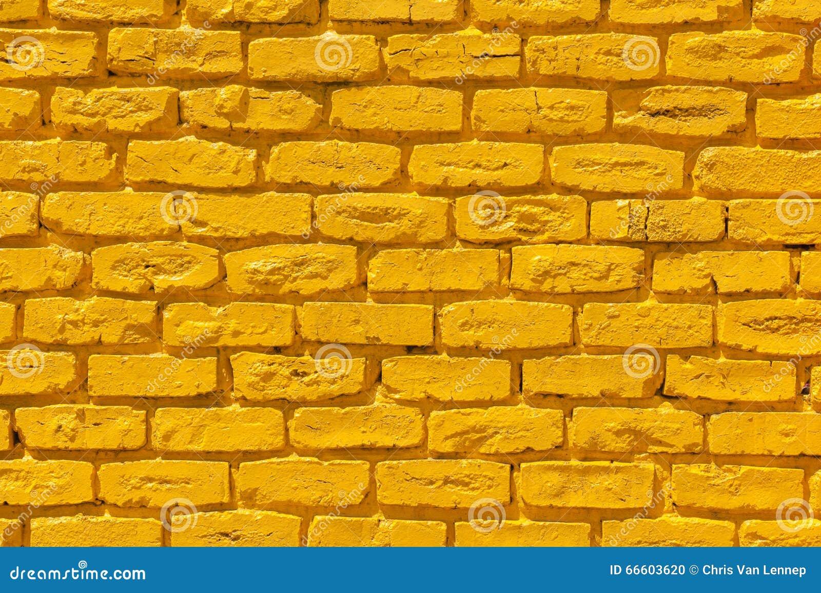 Ladrillos amarillos de la pared foto de archivo imagen - Pared de ladrillo ...