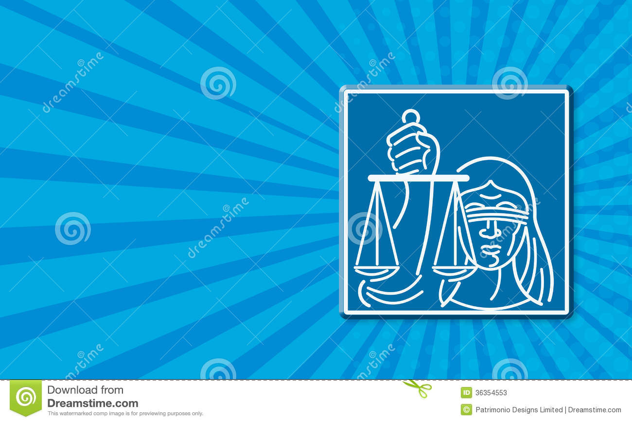 Lady Blindfolded Holding Scales Of Justice Stock