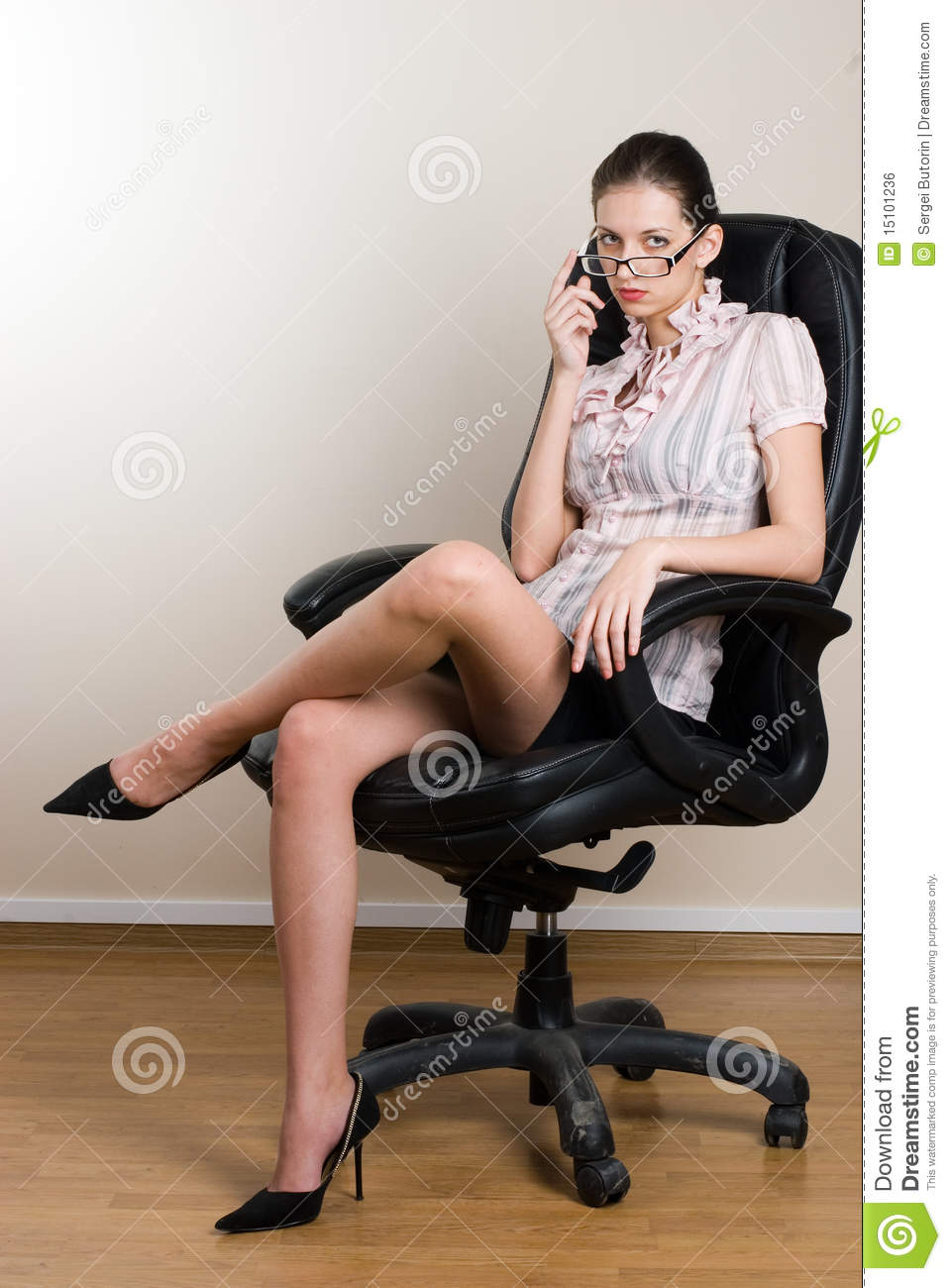 Lady Boss In Office Stock Photo Image Of Mail
