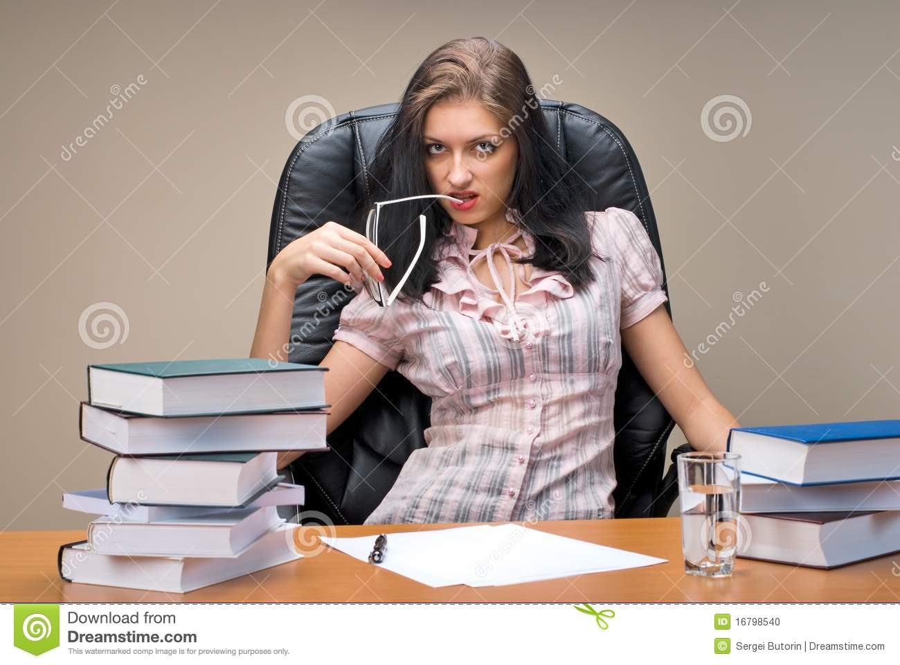 Lady Boss In Office Stock Photo Image 16798540
