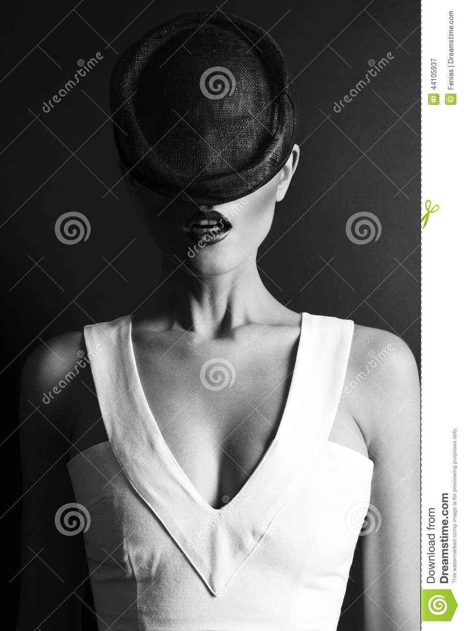lady in bw stock photo image 44105937