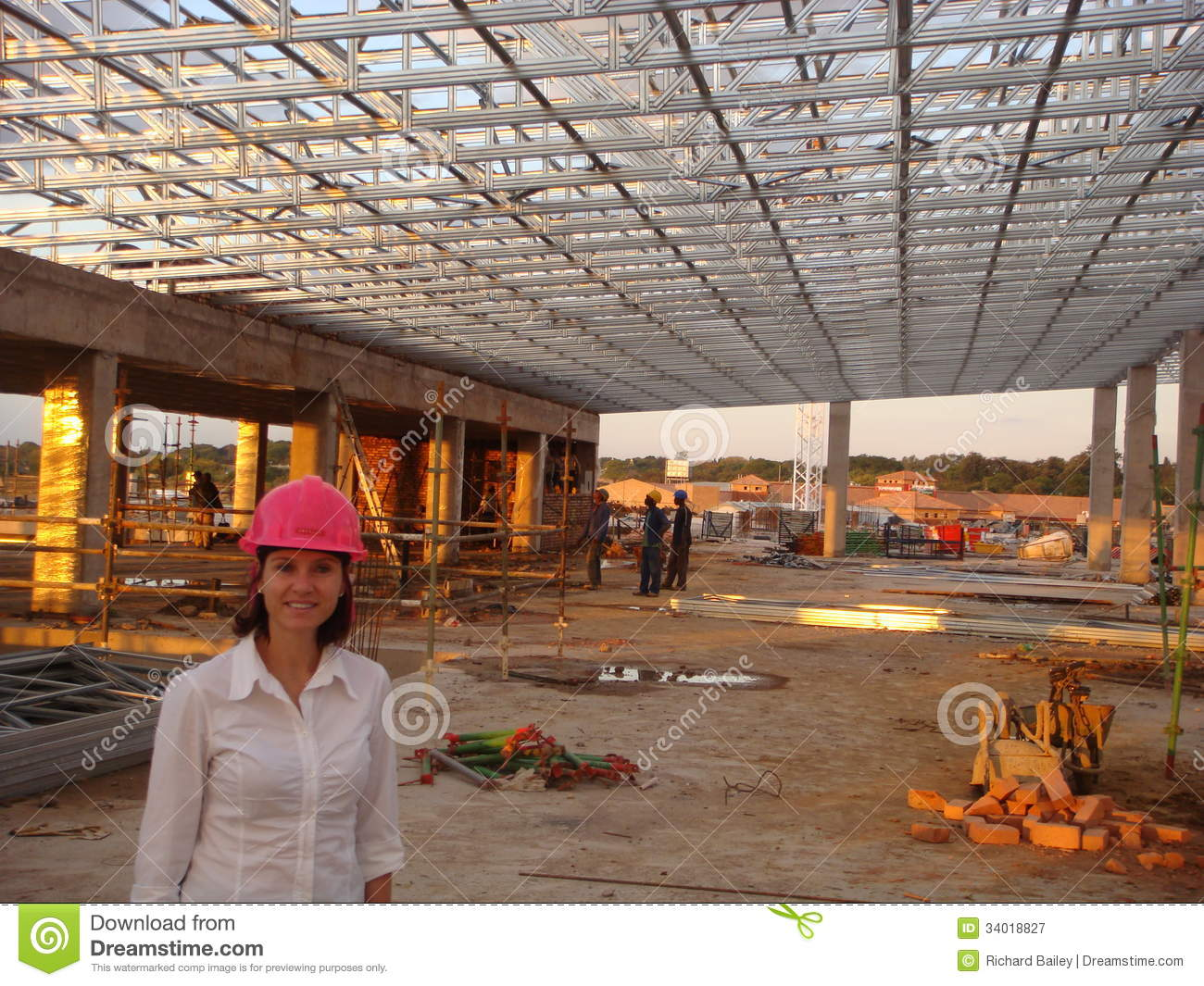Lady Ceo Supplies Roof For Shopping Mall Editorial