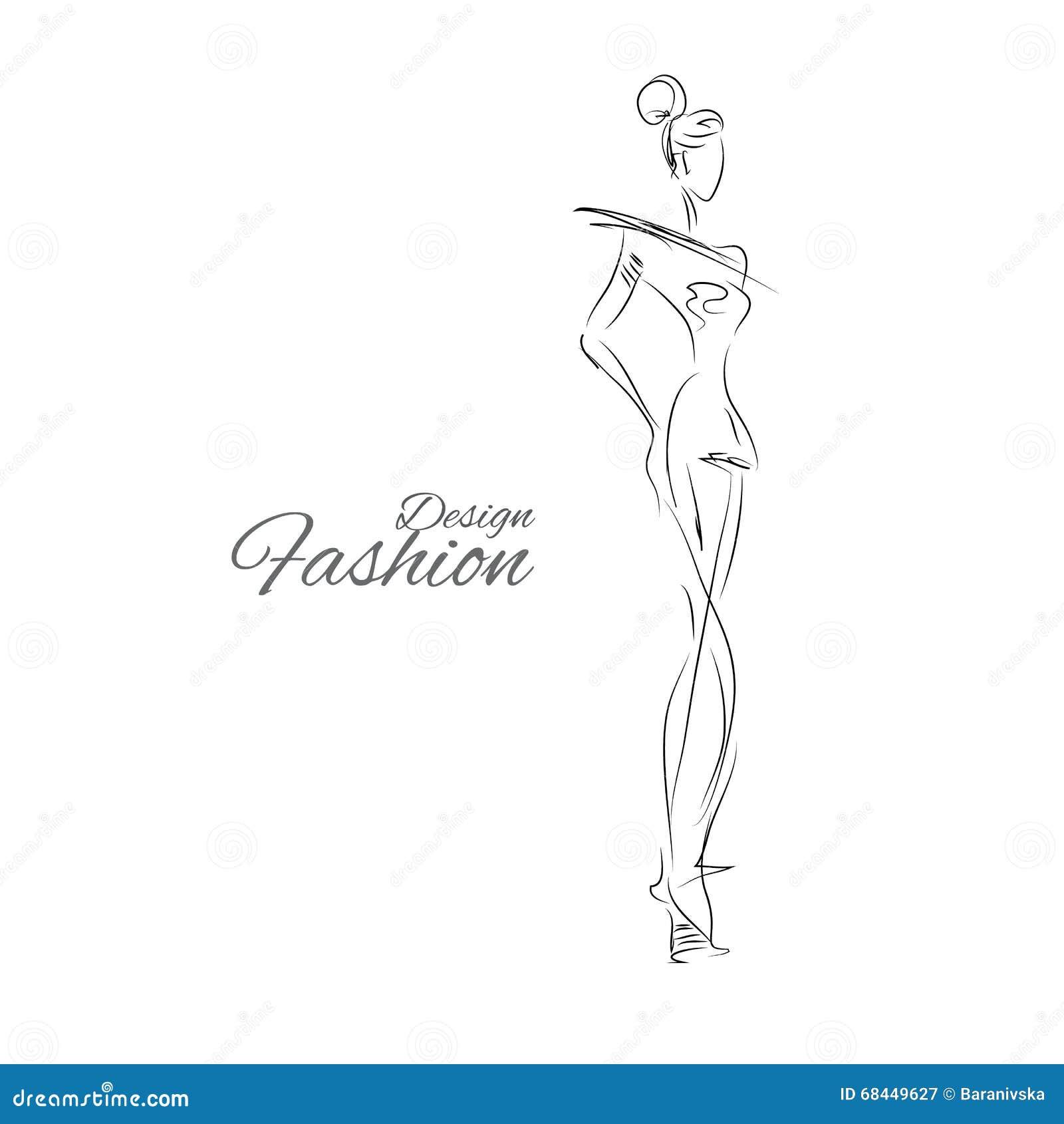 Lady-design stock vector. Illustration of heels, model ...