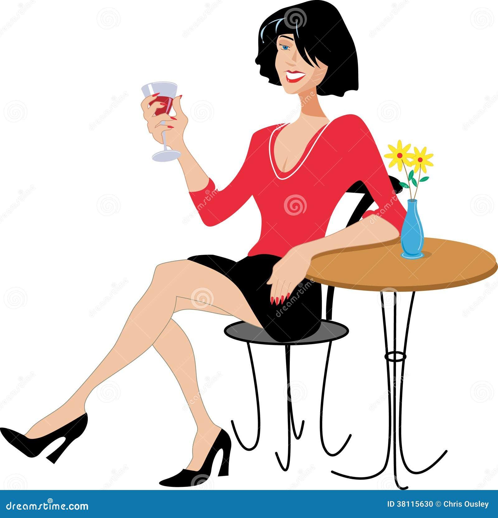 Lady Drinking Wine Stock Photo Image 38115630