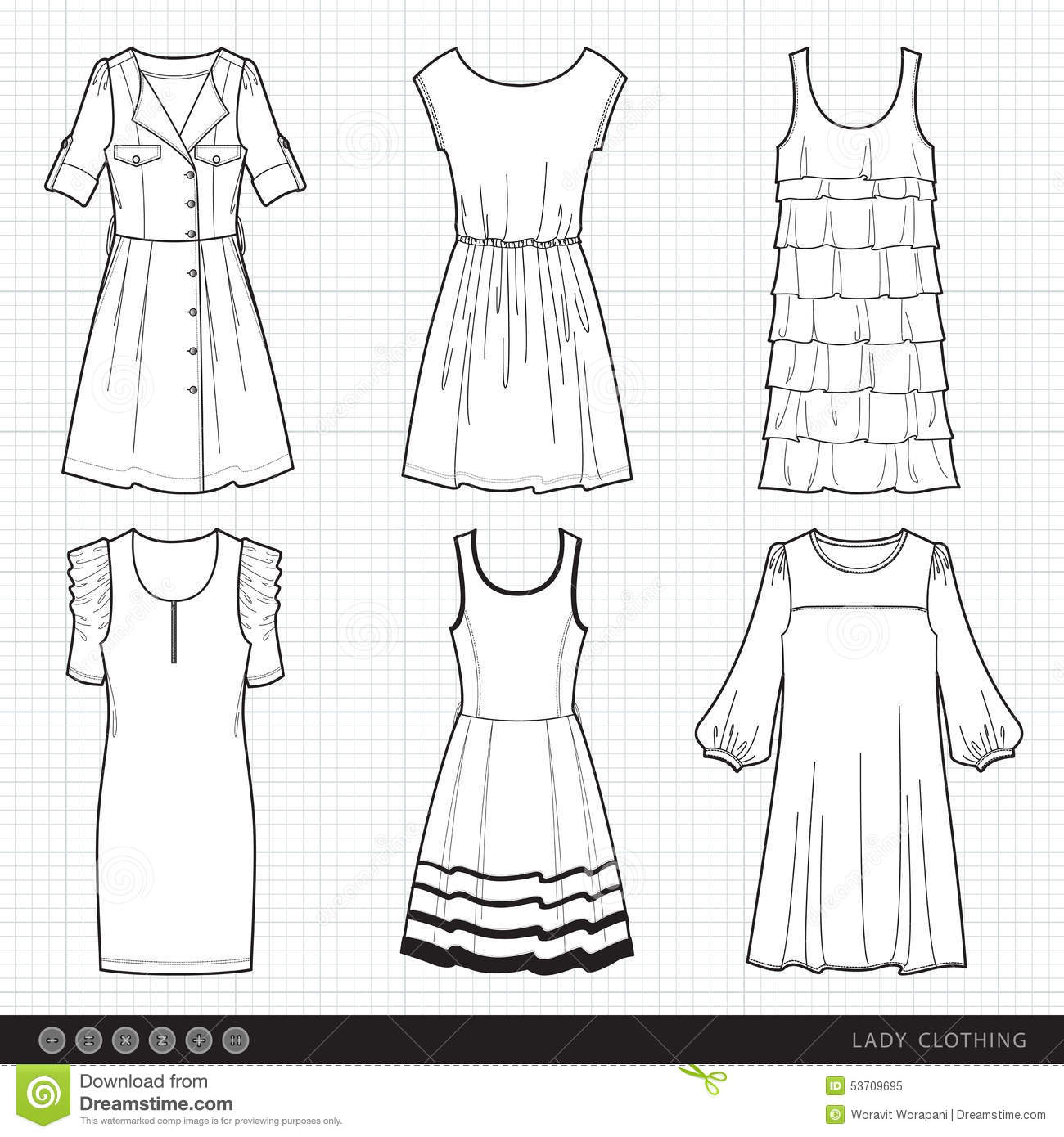 Lady fashionable clothes