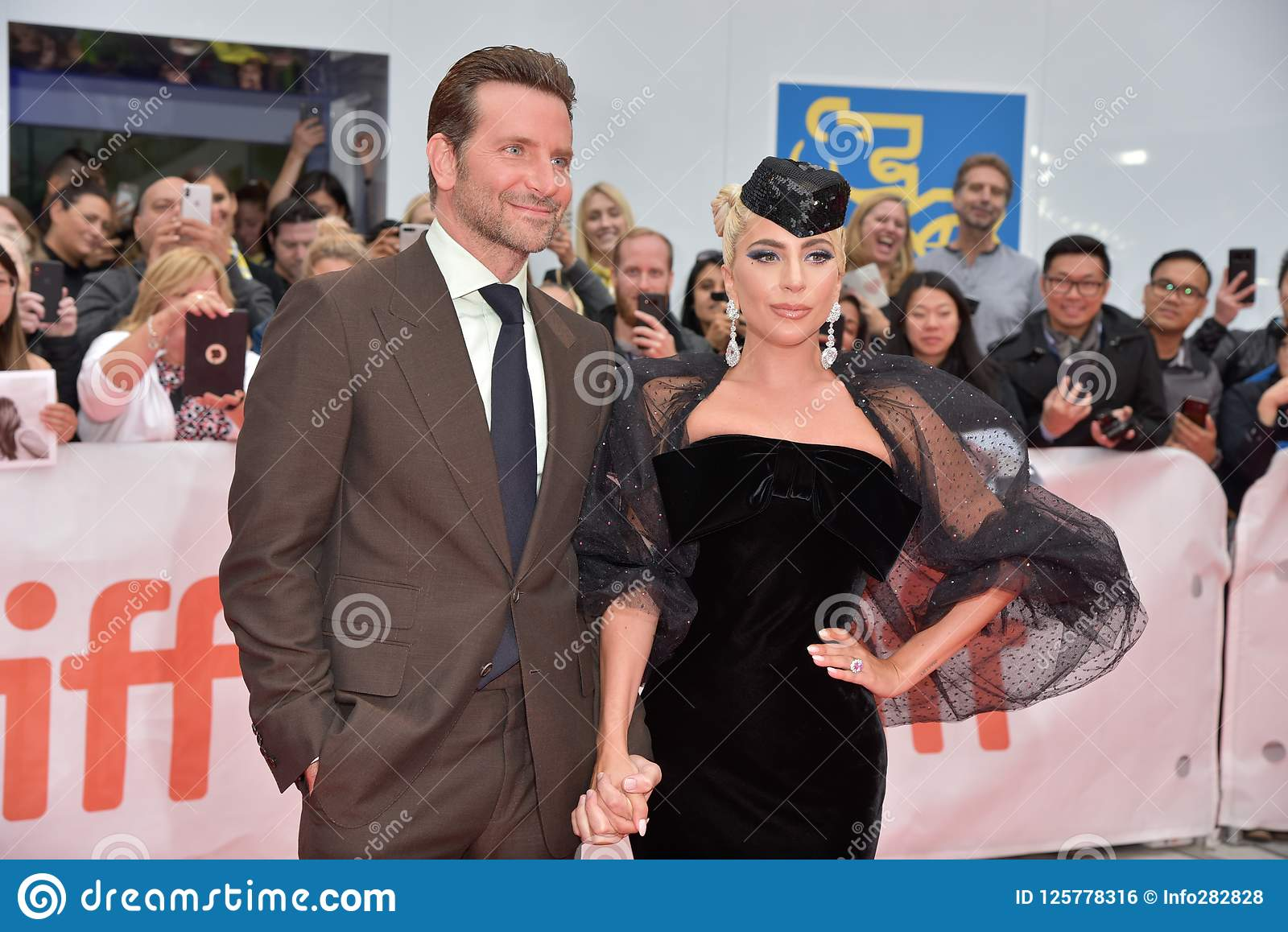 Lady Gaga and Bradley Cooper at premiere of A Star Is Born at Toronto International Film Festival 2018