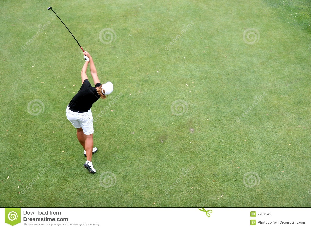 Lady Golf Swing In Evian Stock Photo Image Of Golf Hitting 2207942