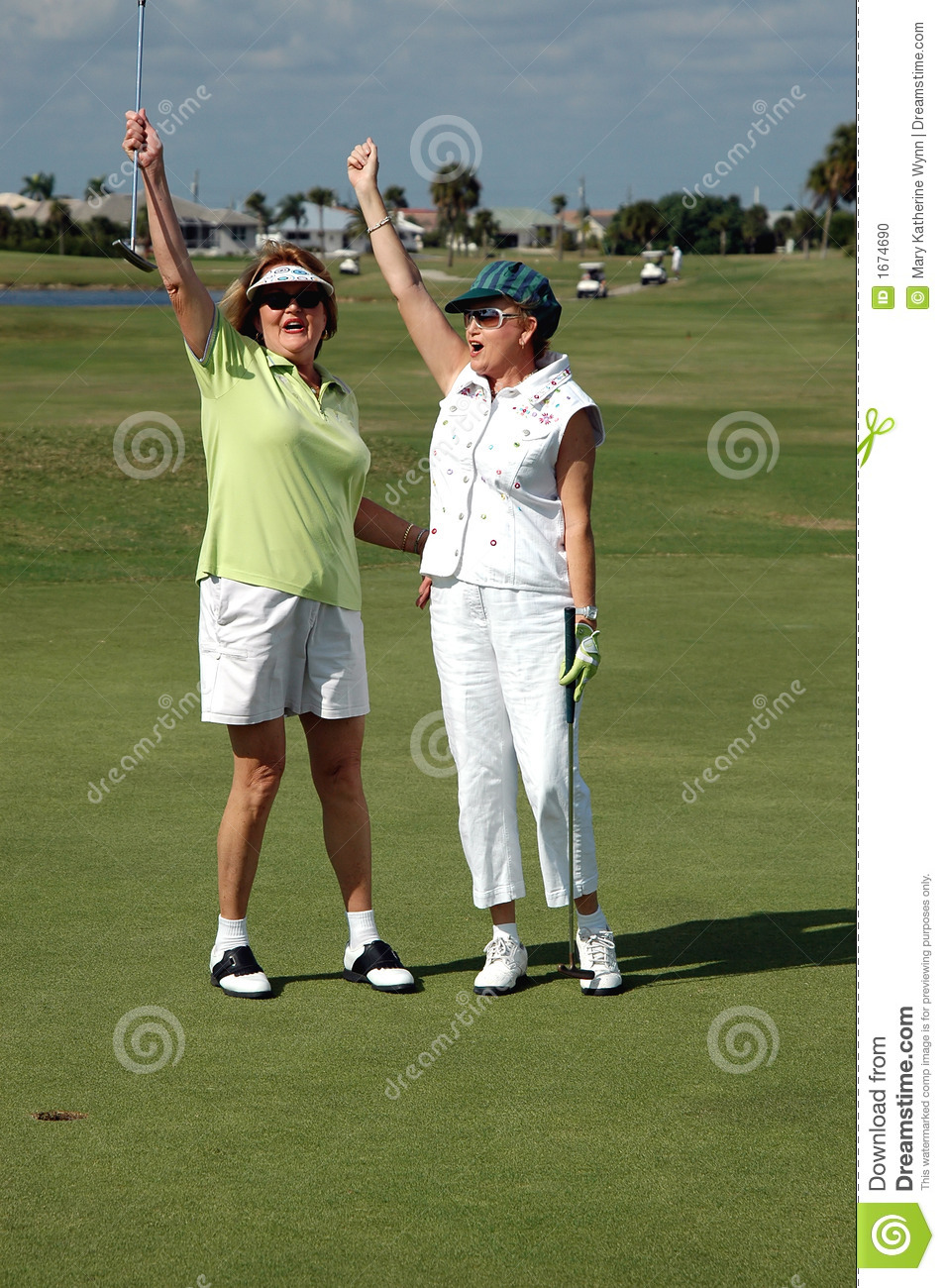 lady golfers victory stock photo image 1674690 golf club clipart png golf course clipart free