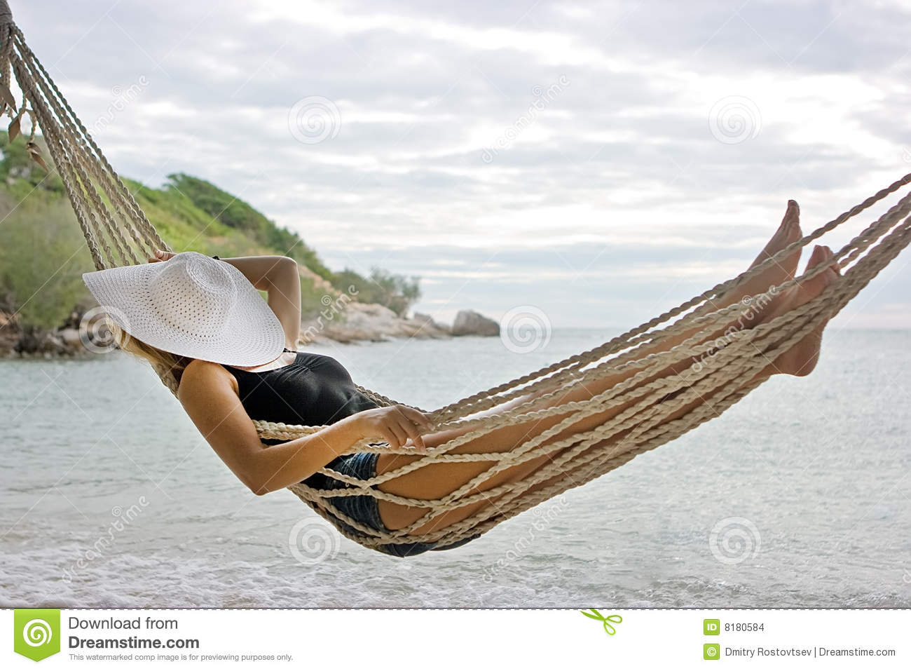 Lady In Hammock Stock Images Image 8180584
