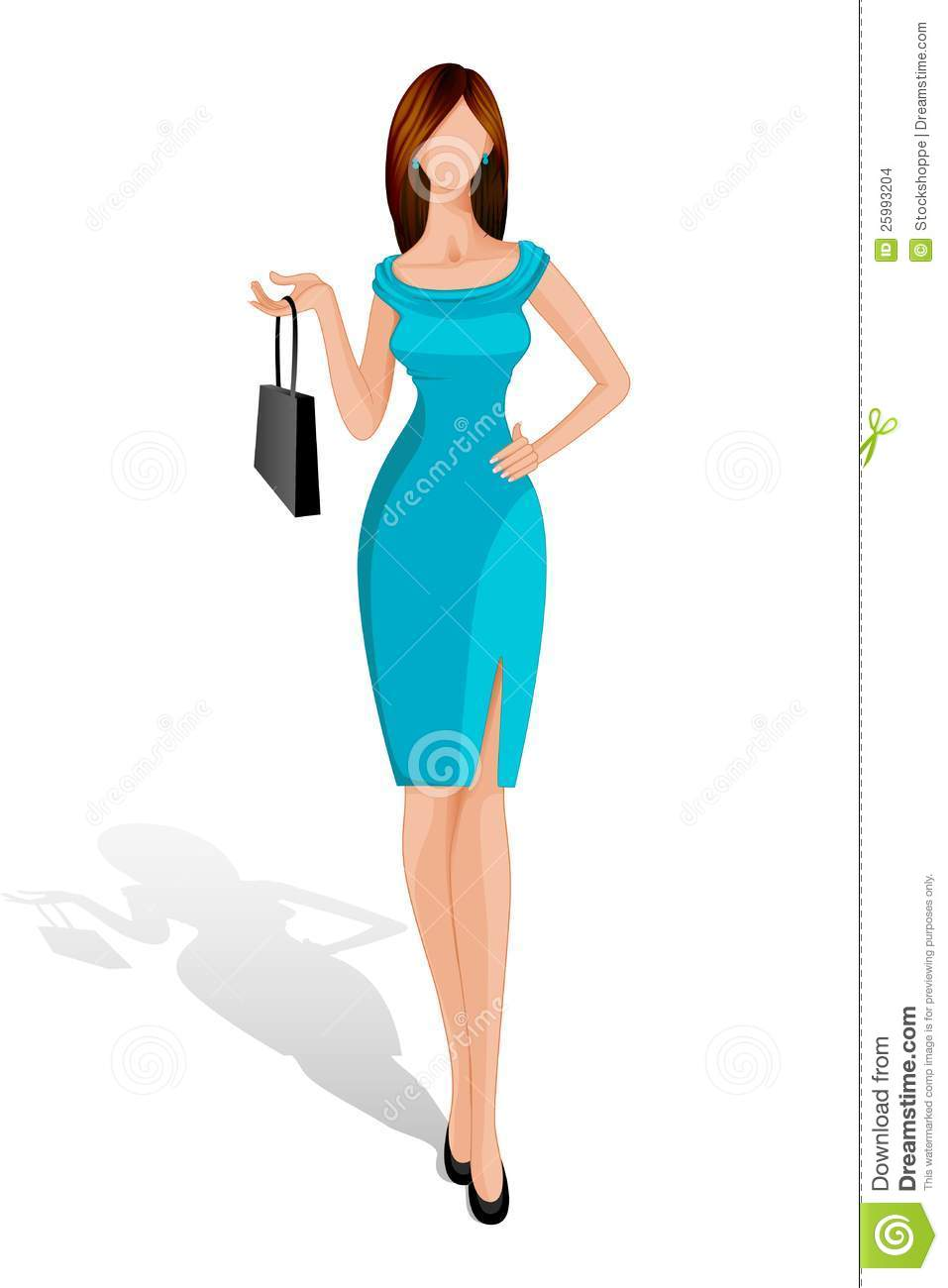 687a054a4d6 Lady with Handbag stock vector. Illustration of happy - 25993204