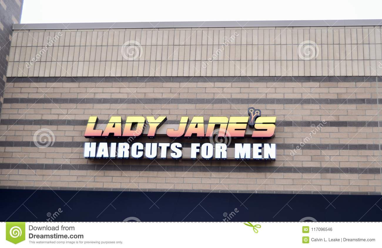 Lady Janes Haircuts For Men Murfreesboro Tn Editorial Photo