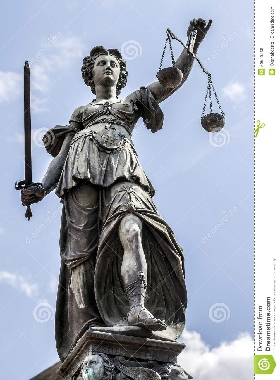 Lady Justice In Frankfurt Germany Stock Photo Image
