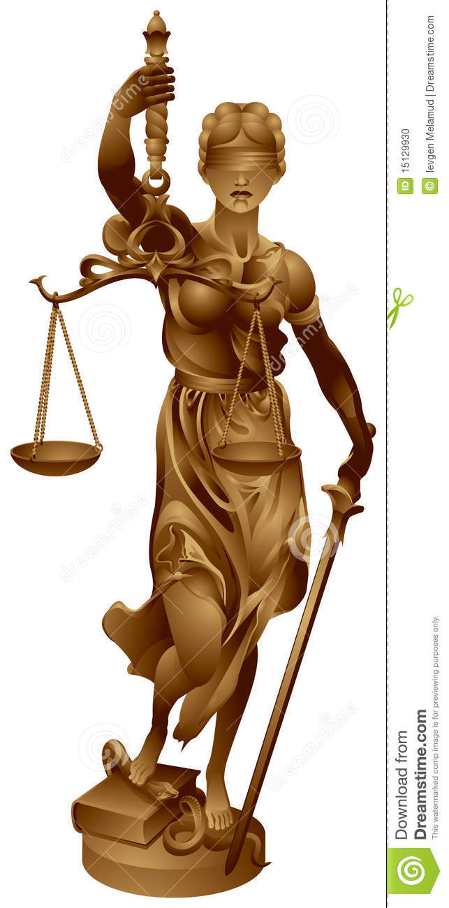 lady justice justitia the roman goddess of and justice is an ...