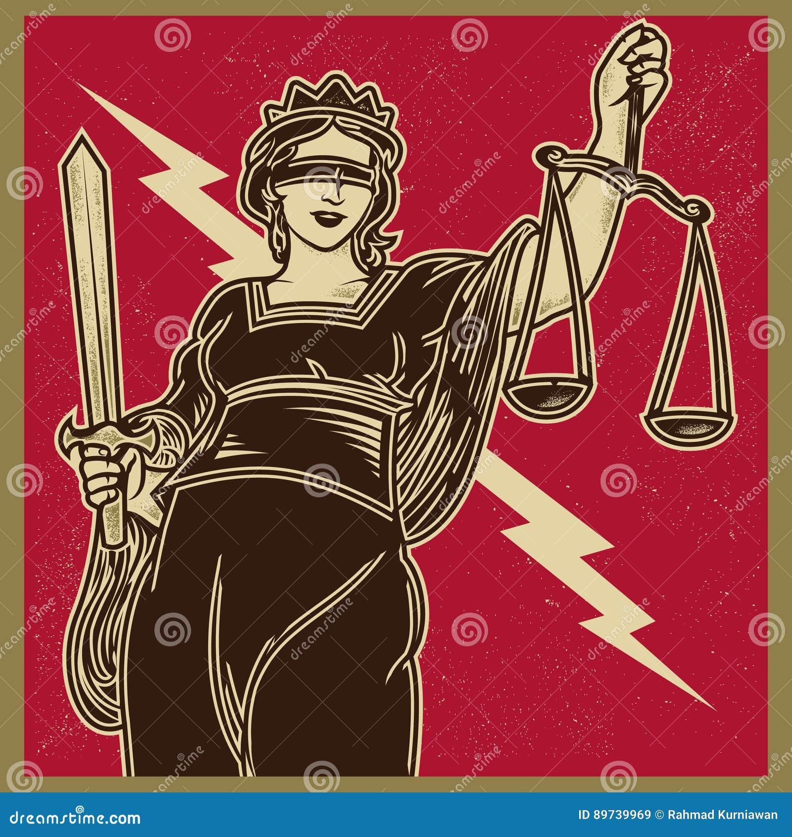 Lady Justice Propaganda