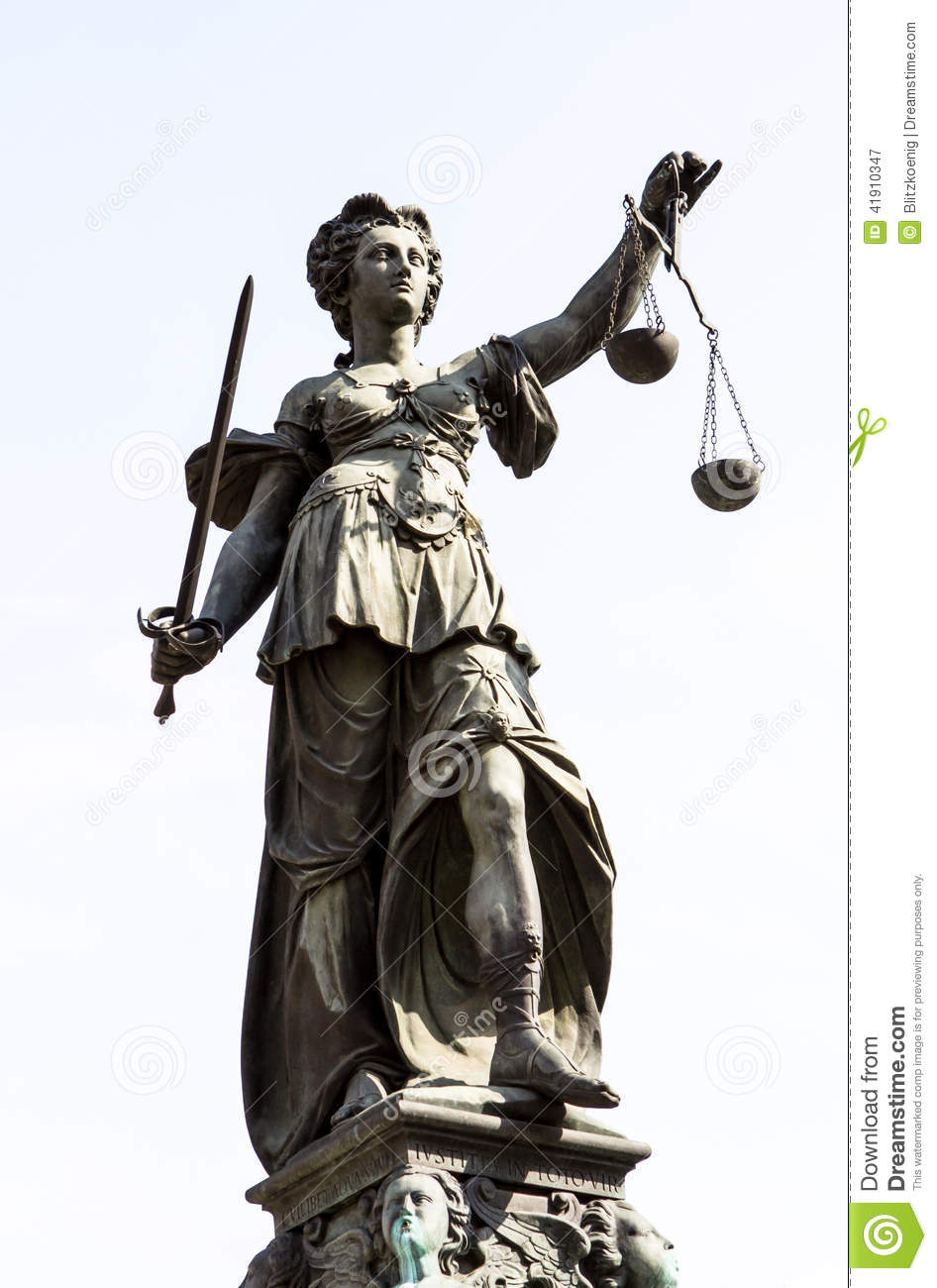 Lady Justice Hold The Scales Of Justice Royalty-Free Stock ...