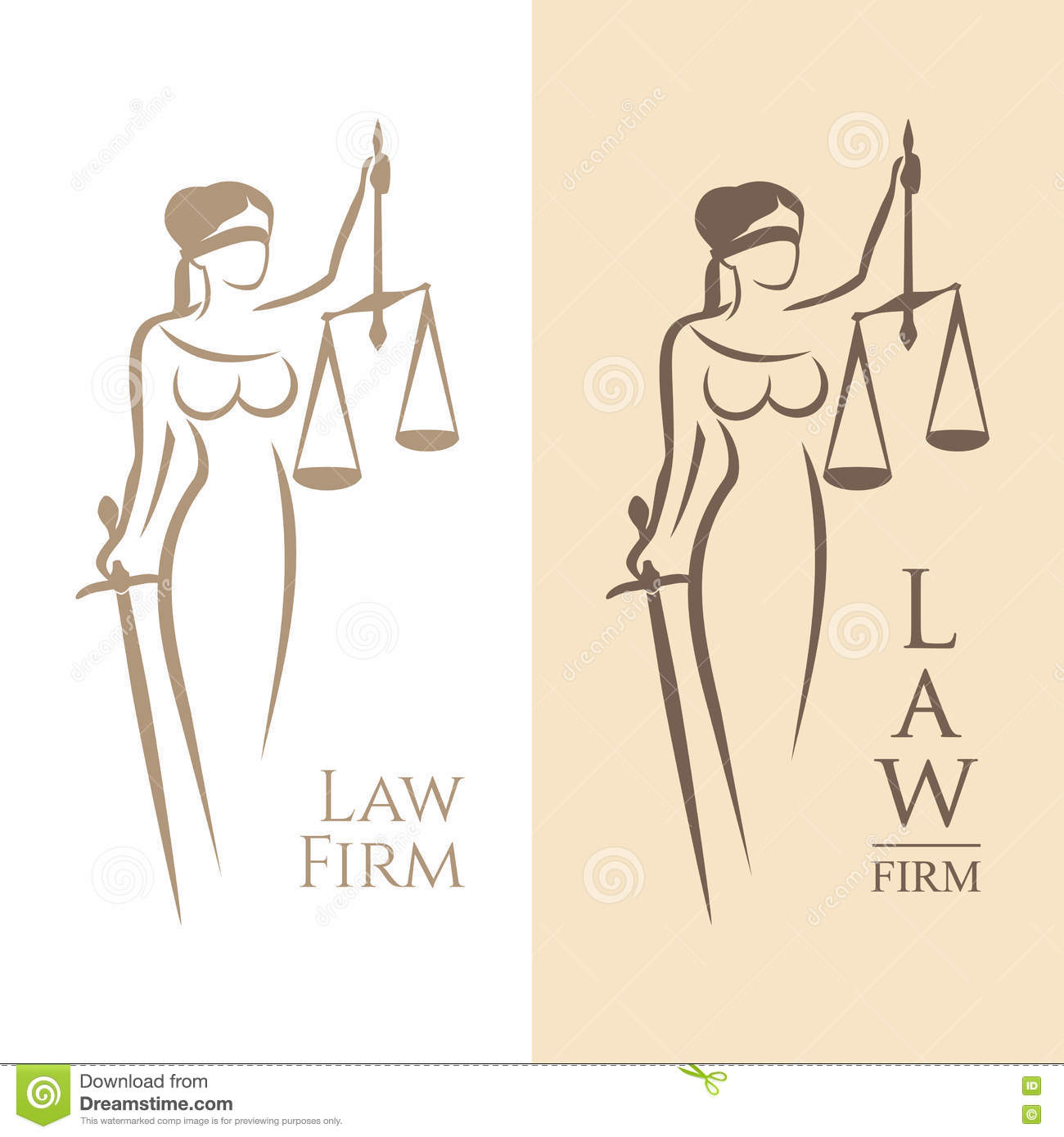 Fair Trial Law .lady Justice Themis Vector Illustration ...