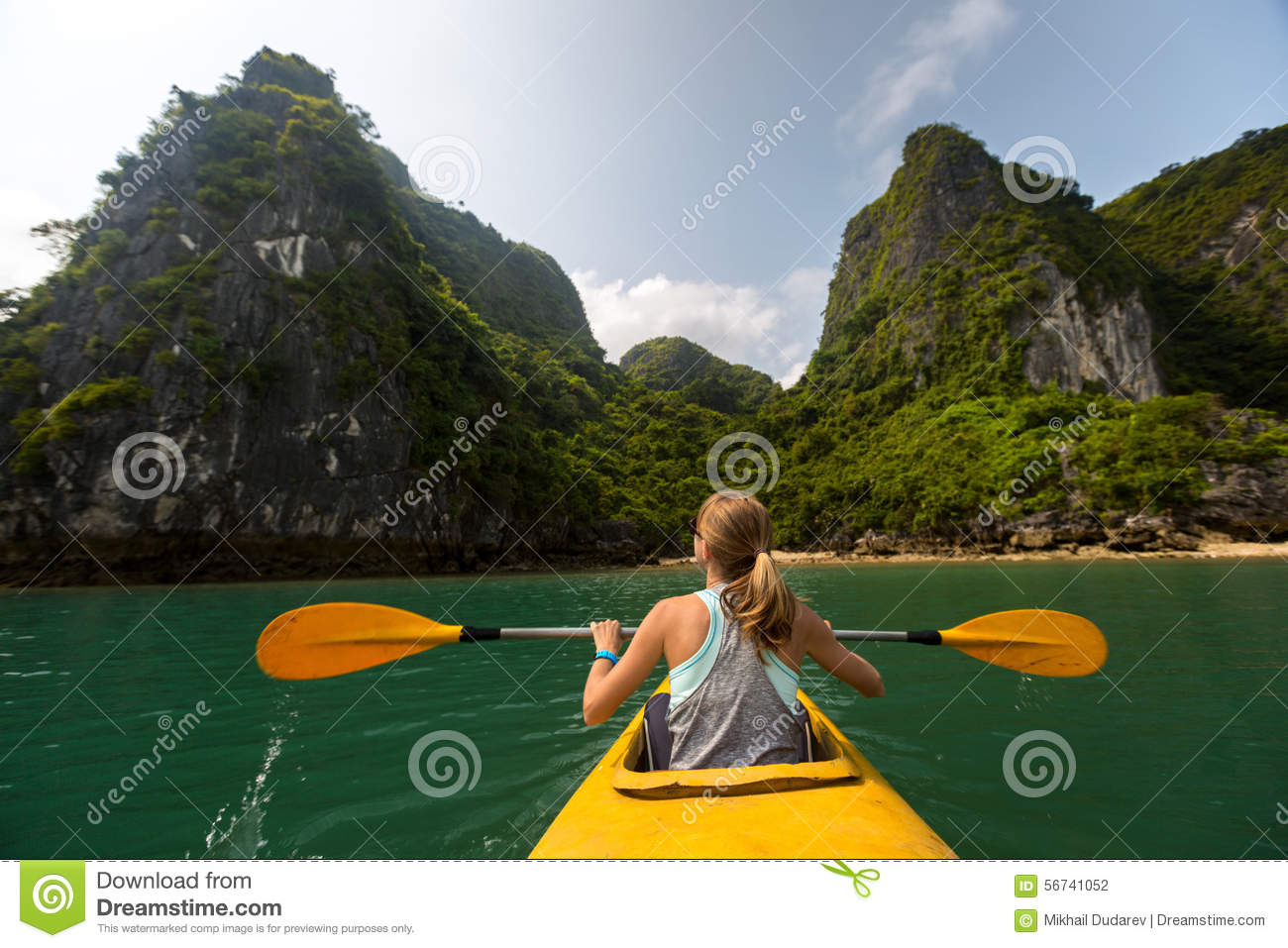 Lady with the kayak