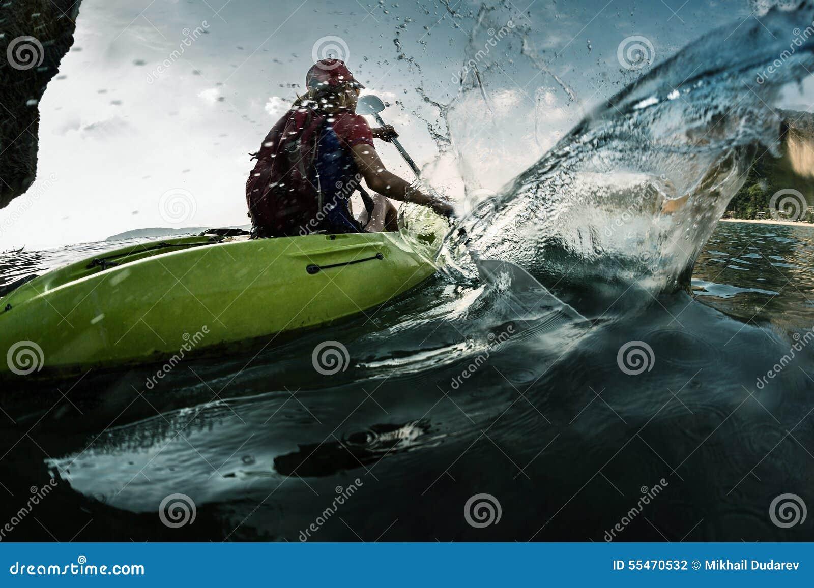 Lady in kayak