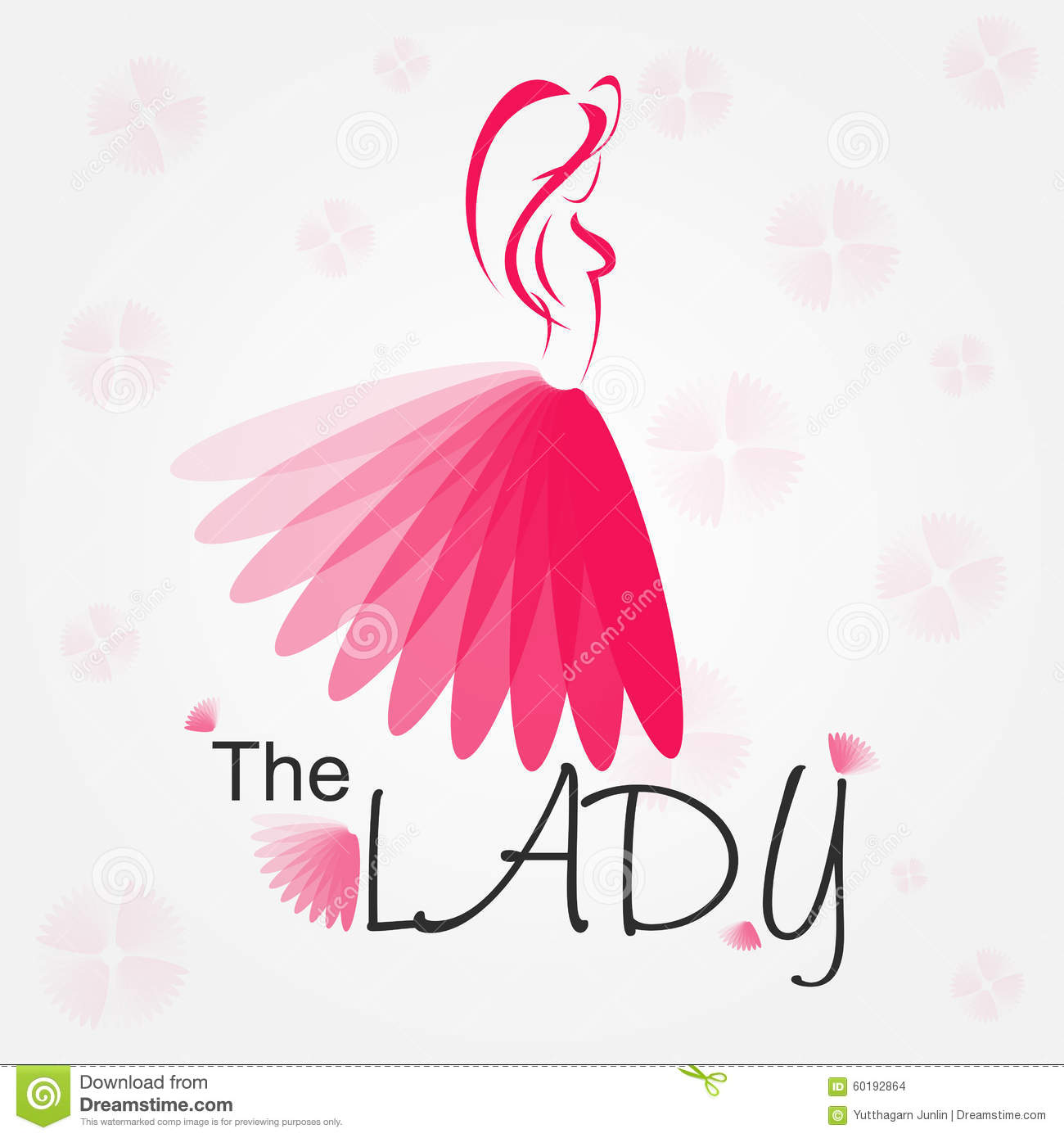 Lady Logo for business about fashion or organization - vector.