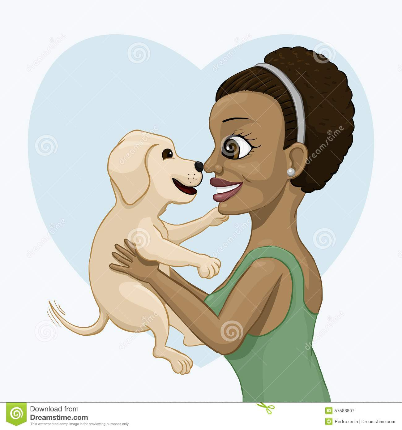 The lady with dog