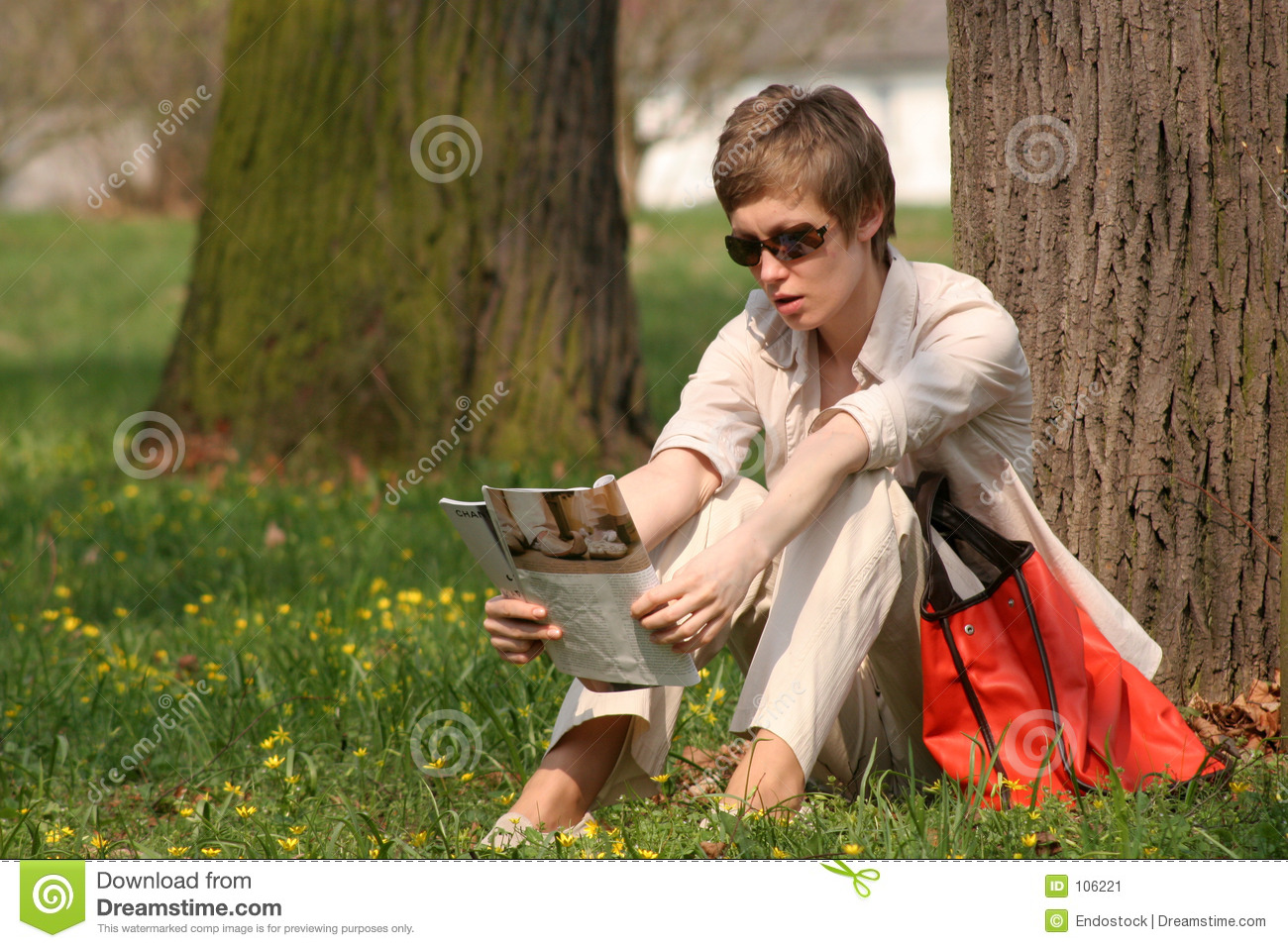 Download Lady is reading magazine stock image. Image of client, lifestyle - 106221