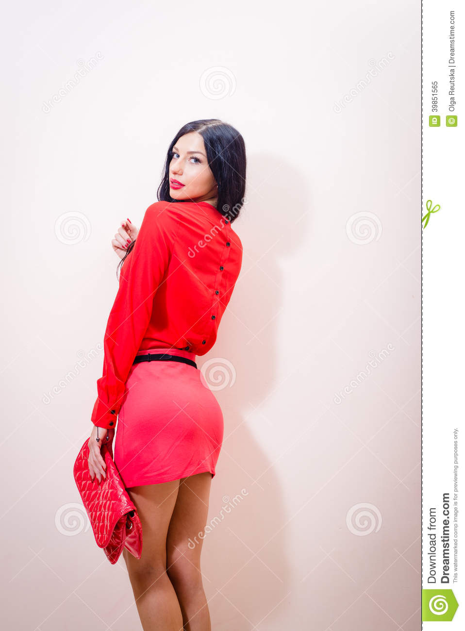 young beautiful woman in red dress male models picture